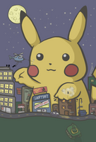 Attack of the Giant Pikachu by headbutt-of-love