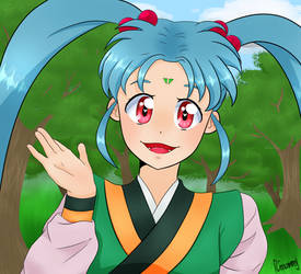 Sasami from Tenchi Muyo by Chaotic-Coconut