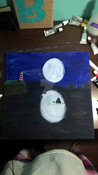 Lighthouse~In~The~Moonlight