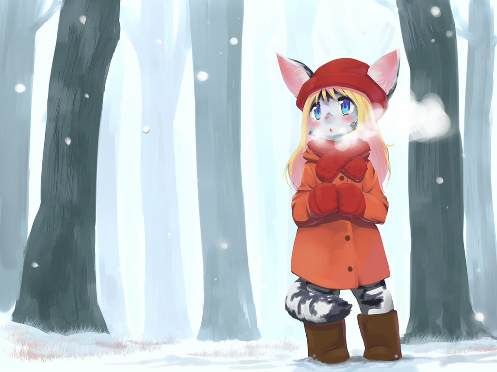 winter cat by siagia