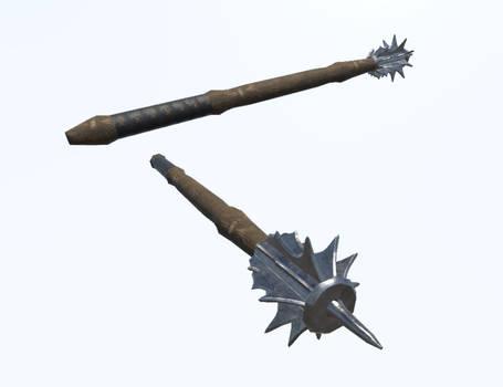 Mace 2 (Medieval Game Asset)