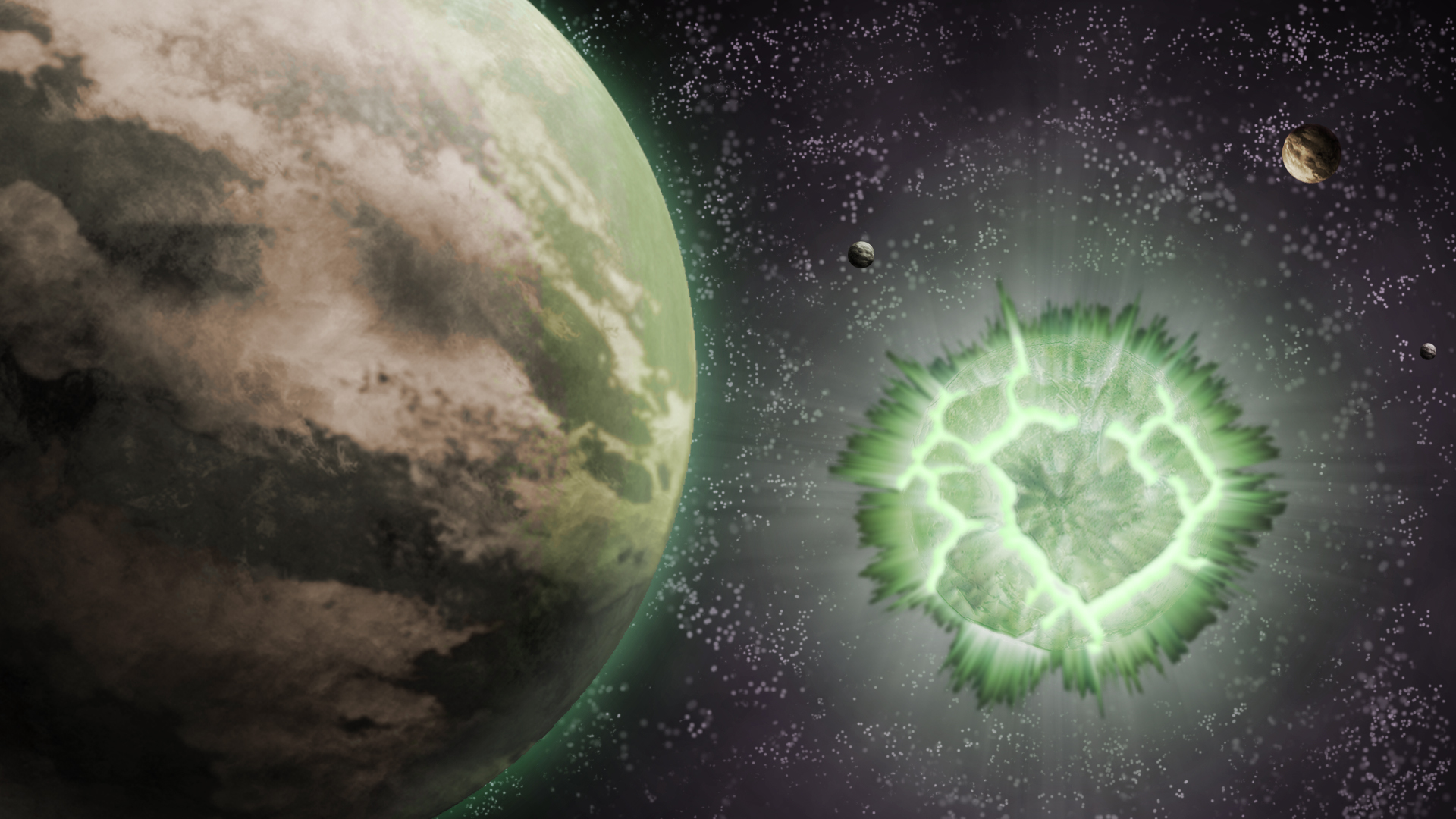 ... Krypton Explosion   Space Wallpaper By H Thomson