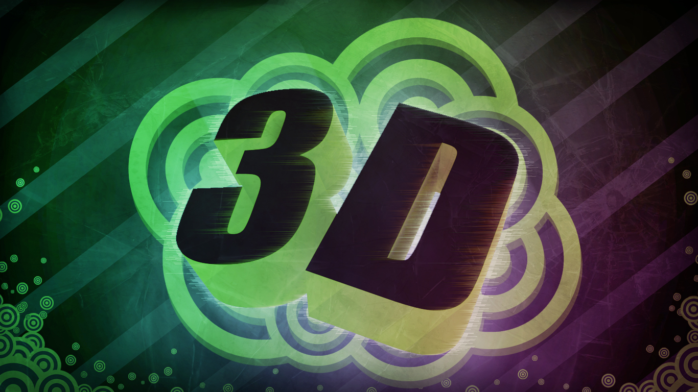 3D text wallpaper design (blender + Photoshop) by H-Thomson