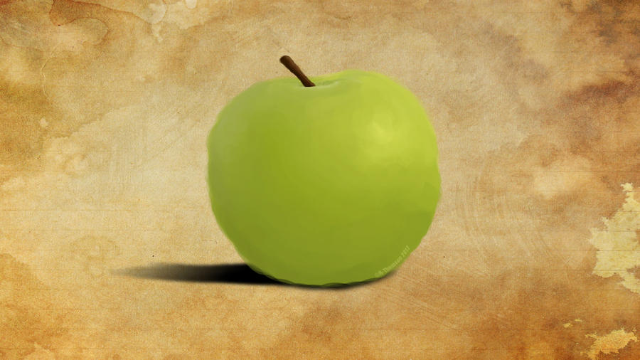 Apple - Colour (digital painting) by H-Thomson