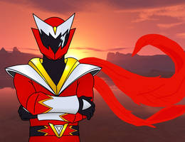 Red ranger fanart by RiderB0y