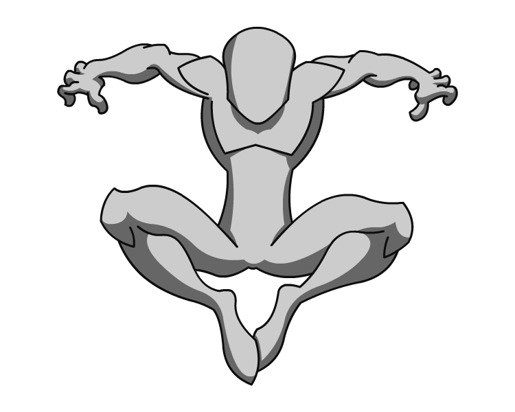 Spiderman Body Template 02 by RiderB0y on DeviantArt