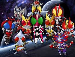 To A Decade Of Kamen Riders V2 by RiderB0y