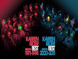 Kamen Rider Best 1971-2011 by RiderB0y