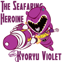 Kyoryu Violet Ver Yayoi Armed ON by RiderB0y