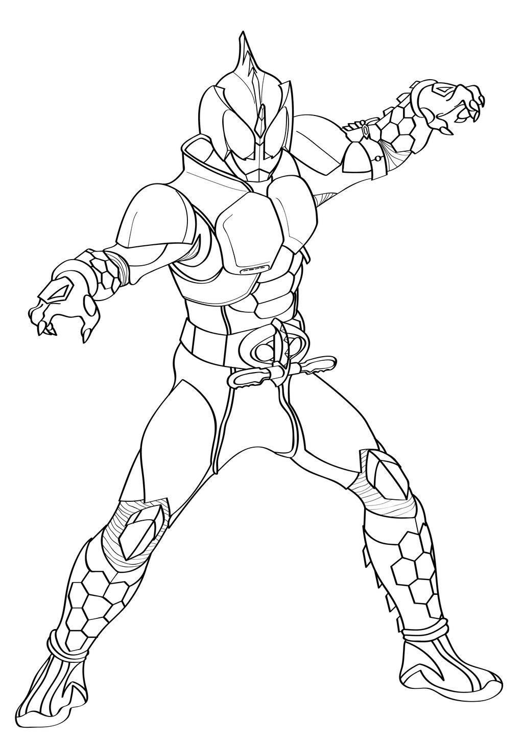 Kamen Rider Dragon Knight Coloring Pages