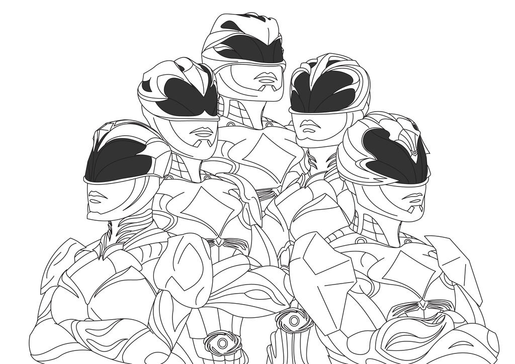 Power Rangers 2017 Lineart by RiderB0y on DeviantArt
