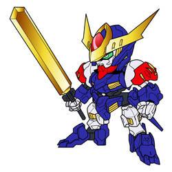 SD Gundam Barbatos Lupus RyujinMaru Colors by RiderB0y