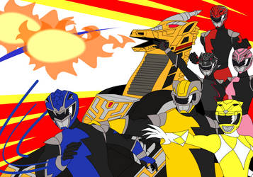 Power Rangers HyperForce_Griffin ThunderZord by RiderB0y