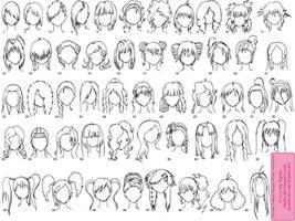 Various Female Anime+Manga Hairstyles