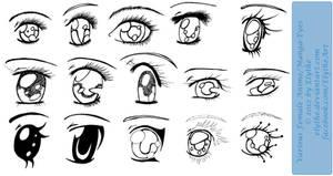 Various Female Anime+Manga Eyes