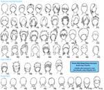 Various Male Anime+Manga Hairstyles
