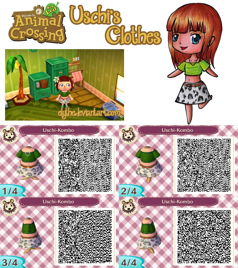 Animal Crossing  New Leaf   Uschi s Clothes   by ElytheQr Codes Animal Crossing New Leaf Dresses