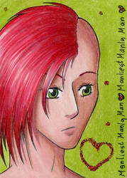 ACEO #014 - Manly Man by Elythe