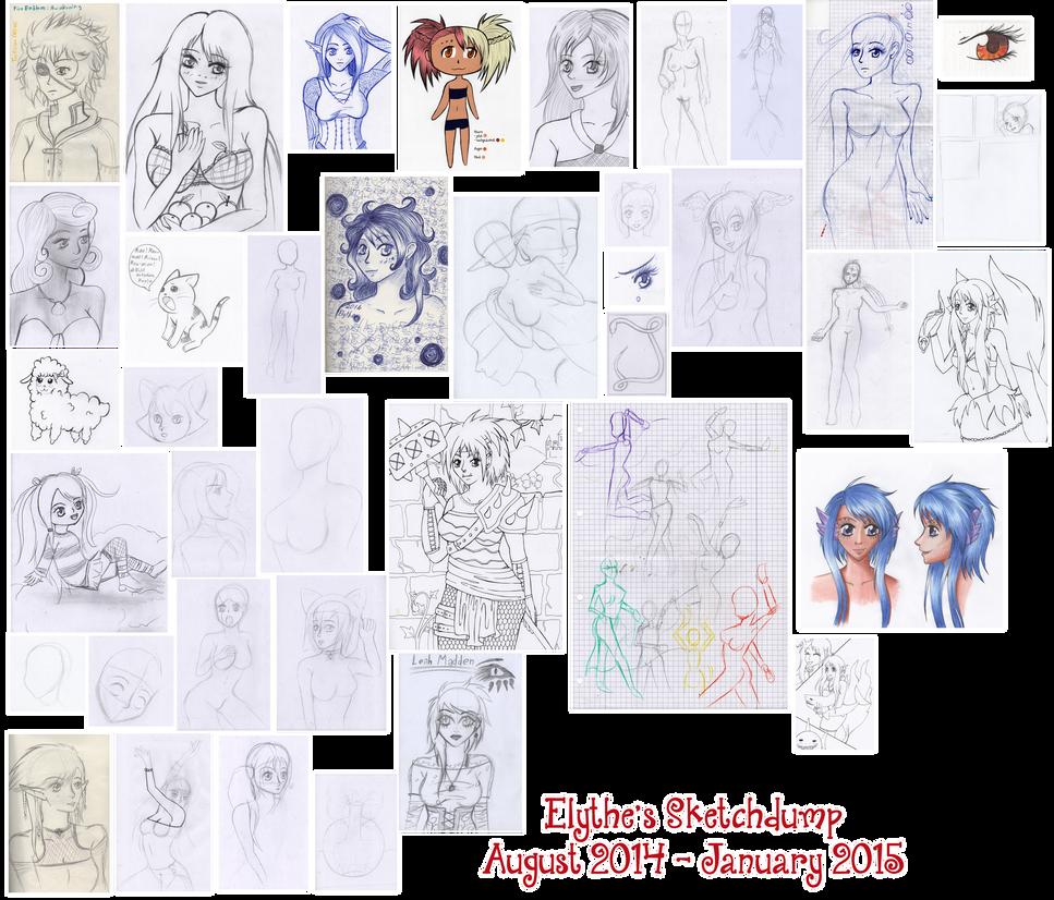 Sketchdump 2014-2 by Elythe
