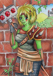 Warrior Orc by Elythe