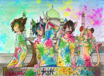 :COLLAB: Battle-Quest - Holi Festival by Elythe