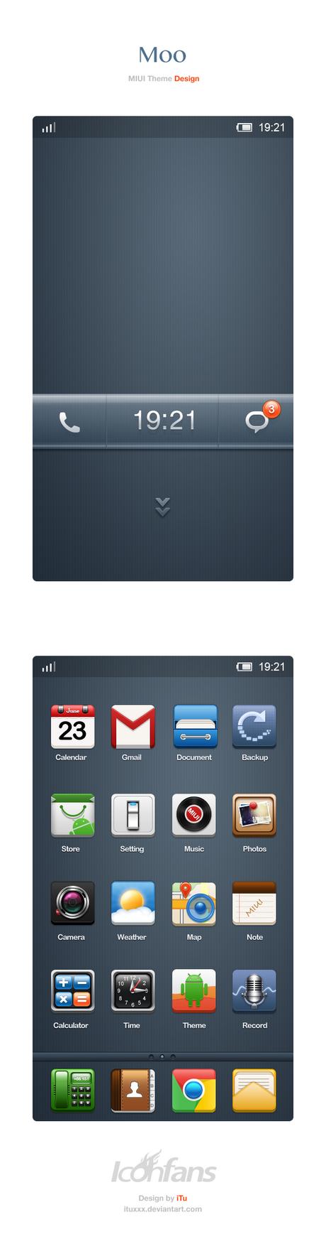 Gmail theme gallery - Ituxxx 33 7 Moo Miui Theme Design By Ituxxx
