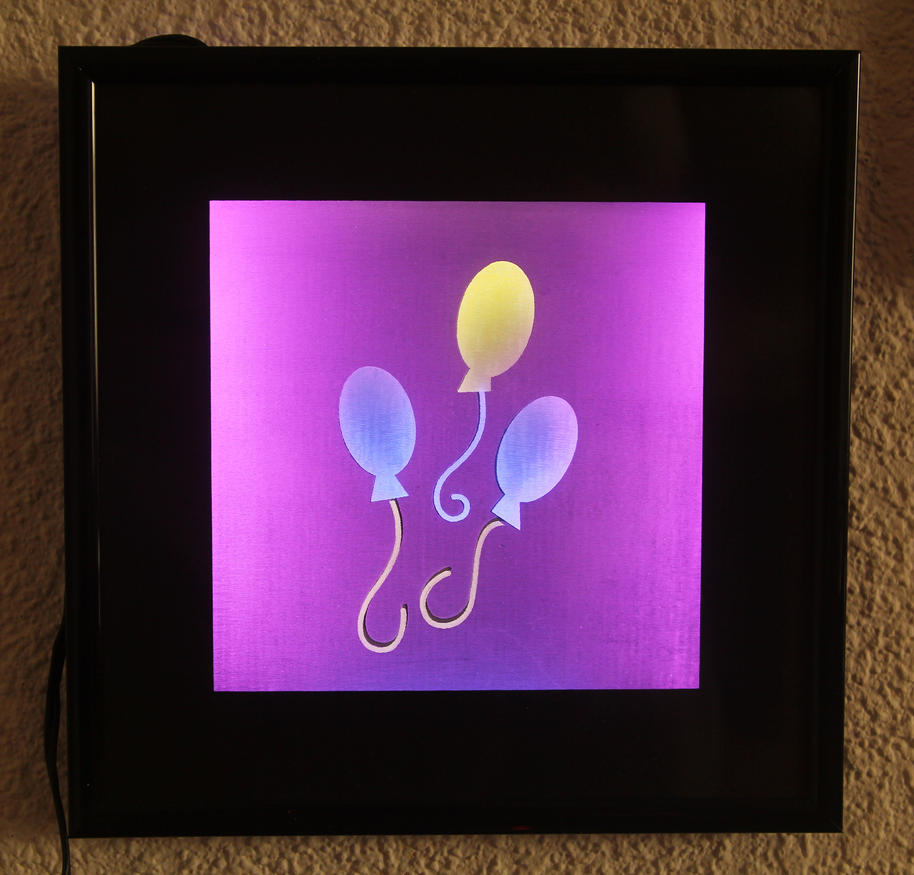 Pinkie Pie Cutie Mark - Multi-colored LED Picture by steeph-k