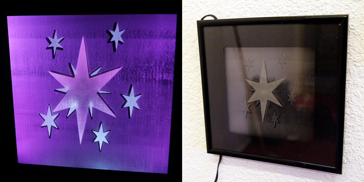 Twilight's Cutie Mark - Multi-colored LED Picture by steeph-k