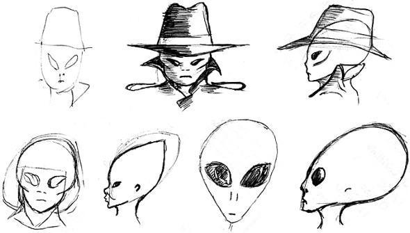 Men In Black Aliens by etourist