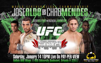 UFC 142 Rio promo wallpaper by SilentGorilla