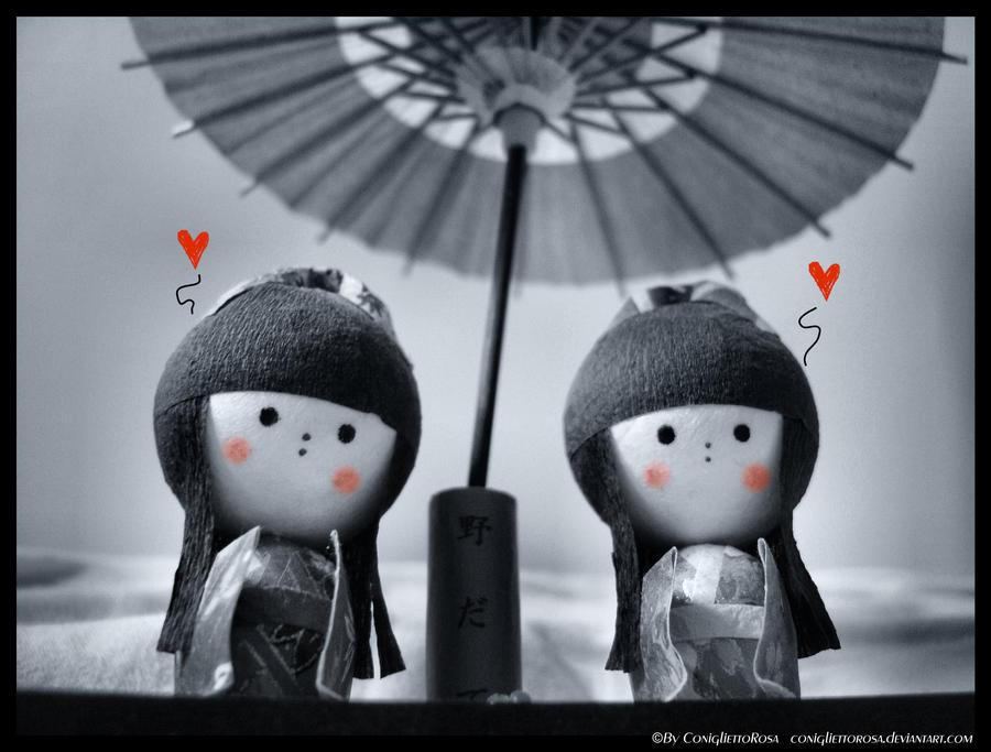 Lovely Japanese dolls by ConigliettoRosa