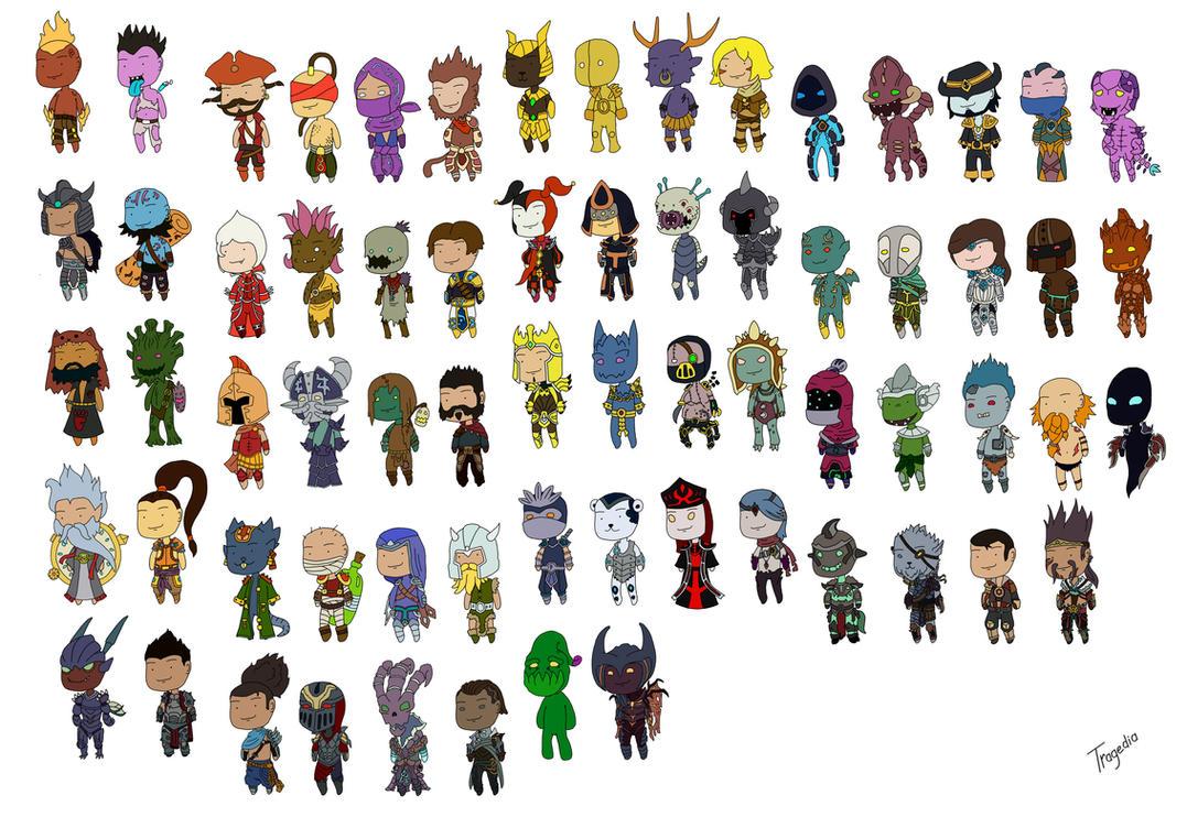 League of Legends chibi boys by TragediaIrk