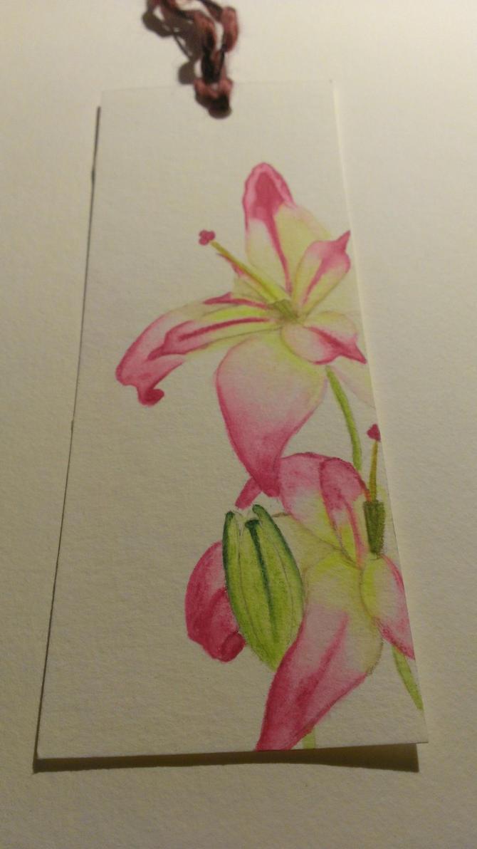 pink-yellow Lily by meradina