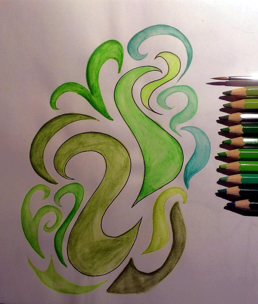 Green Swirls! by meradina