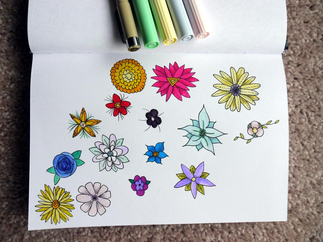 Little Pastel Flowers by meradina