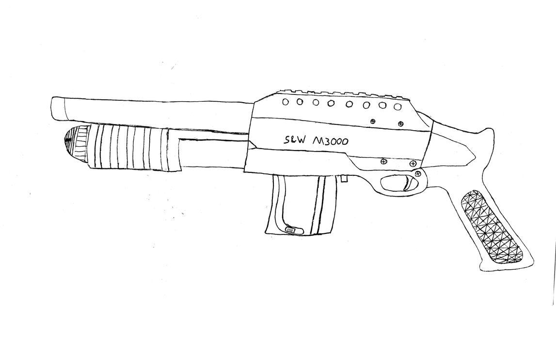Line Art Gun : A bb gun i have line art by theindependentperson on