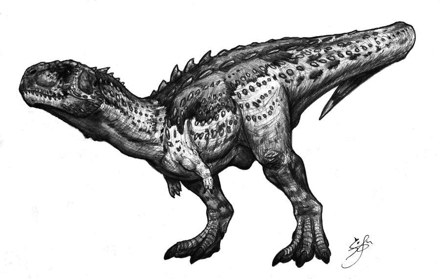Eoabelisaurus mefi by SebasRuna
