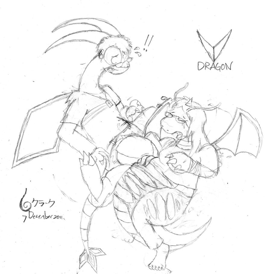 Dragon type flygon and dragonite by mint3465 on deviantart for Flygon coloring pages
