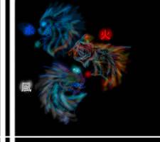 Elemental Dragons by Daytime1dream