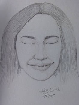 Sketch of imagined face