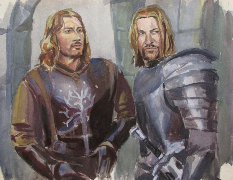 Faramir and Boromir by Greencat85