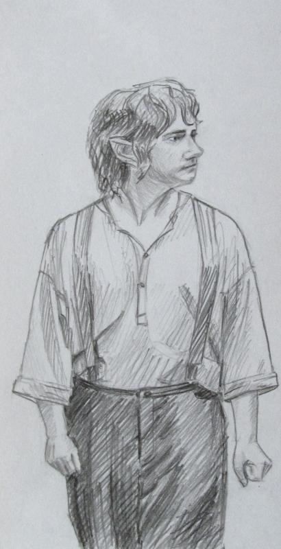 Martin Freeman as Bilbo Baggins by Greencat85