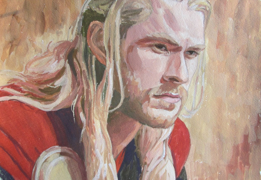 Chris Hemsworth as Thor 2 by Greencat85