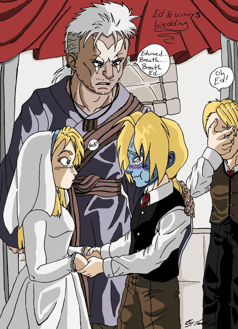 Ed and Winry's Wedding by Iziume89 on DeviantArt