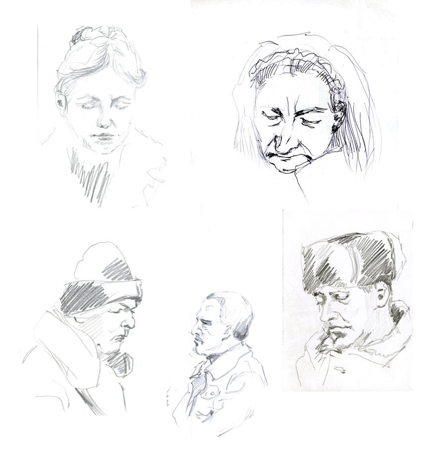 5 live sketches by hardcorish
