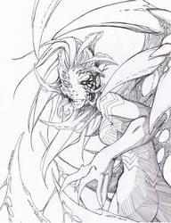 Lady Venom line art