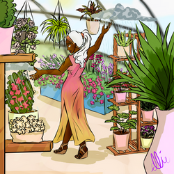 Ororo And Her Plants
