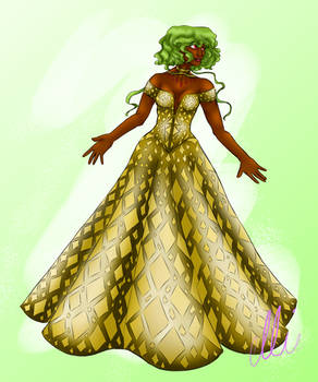 Emerald in a Gown!