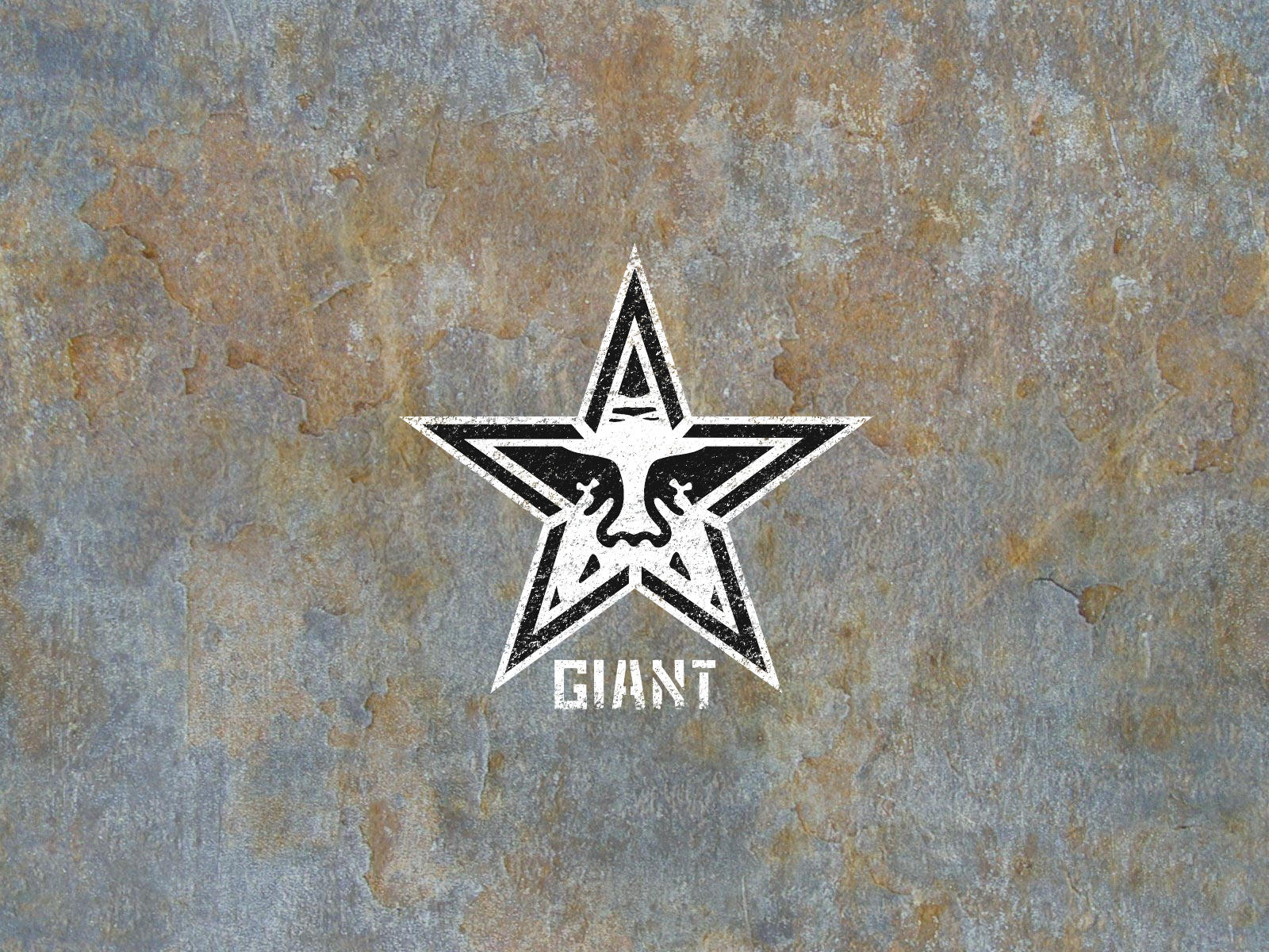 Obey Giant Wallpaper Hd Obey giant on a rusty wall by