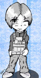 Quick doodle - Leon Kennedy by Blakey-mads
